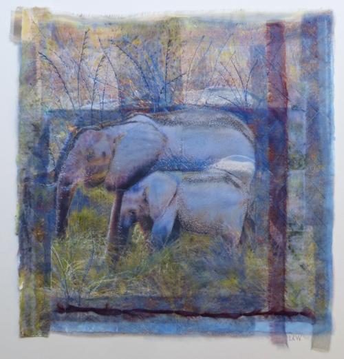 Elephants in Blue Grass SOLD